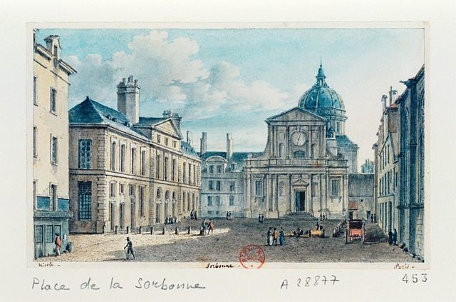 Place and Chapel of the Sorbonne in the early nineteenth century, by Victor Jean Nicolle (1754-1826)